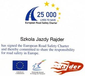 European Road safety charter szkoła jazdy rajder